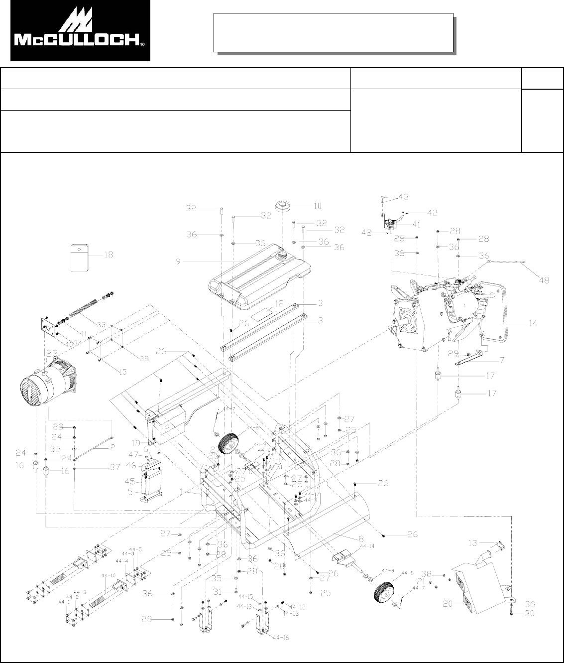 Parts Manual For Mcculloch Generator Chainsaw Engine Diagrams Page 5
