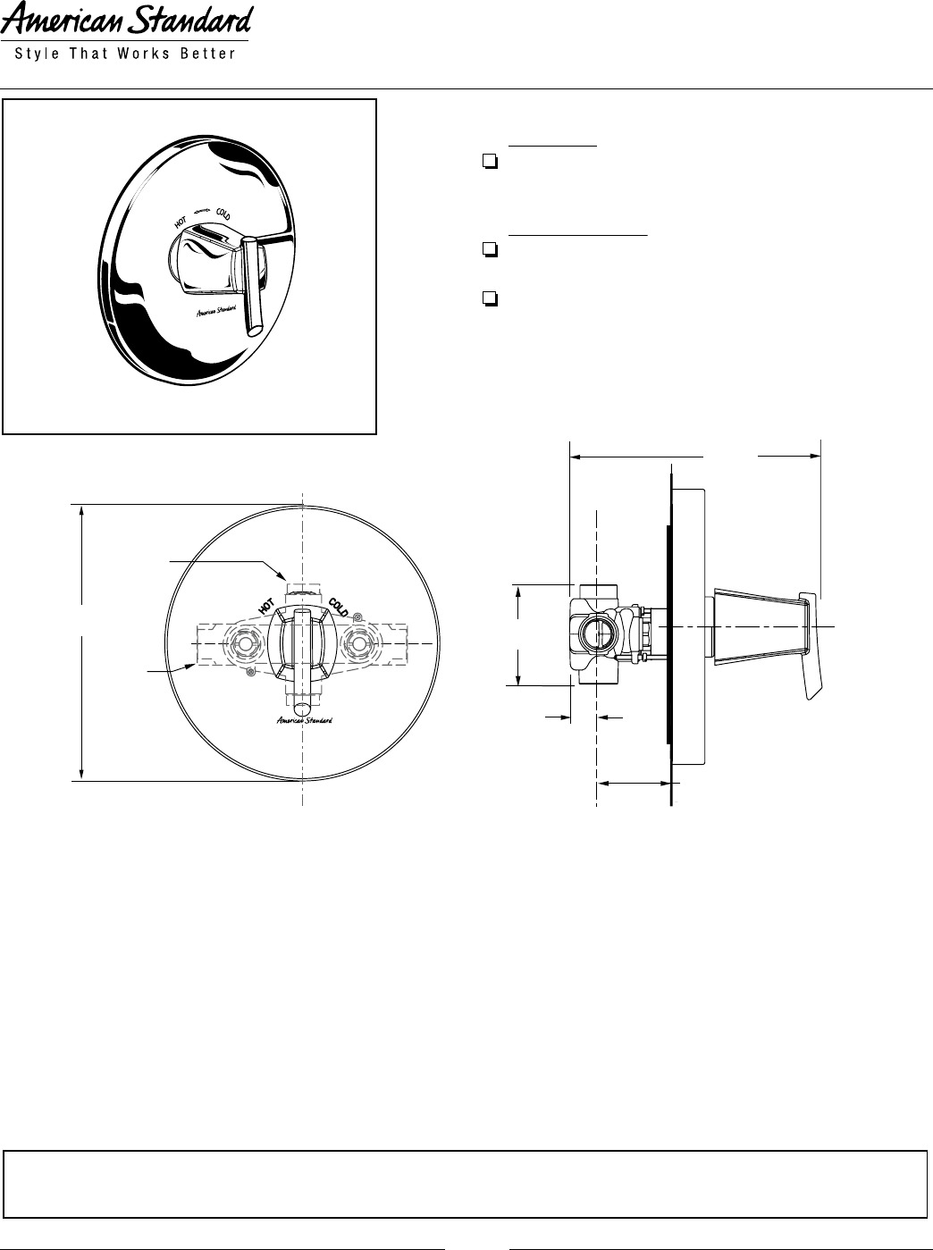 American Standard Thermostat T010 730 User Guide