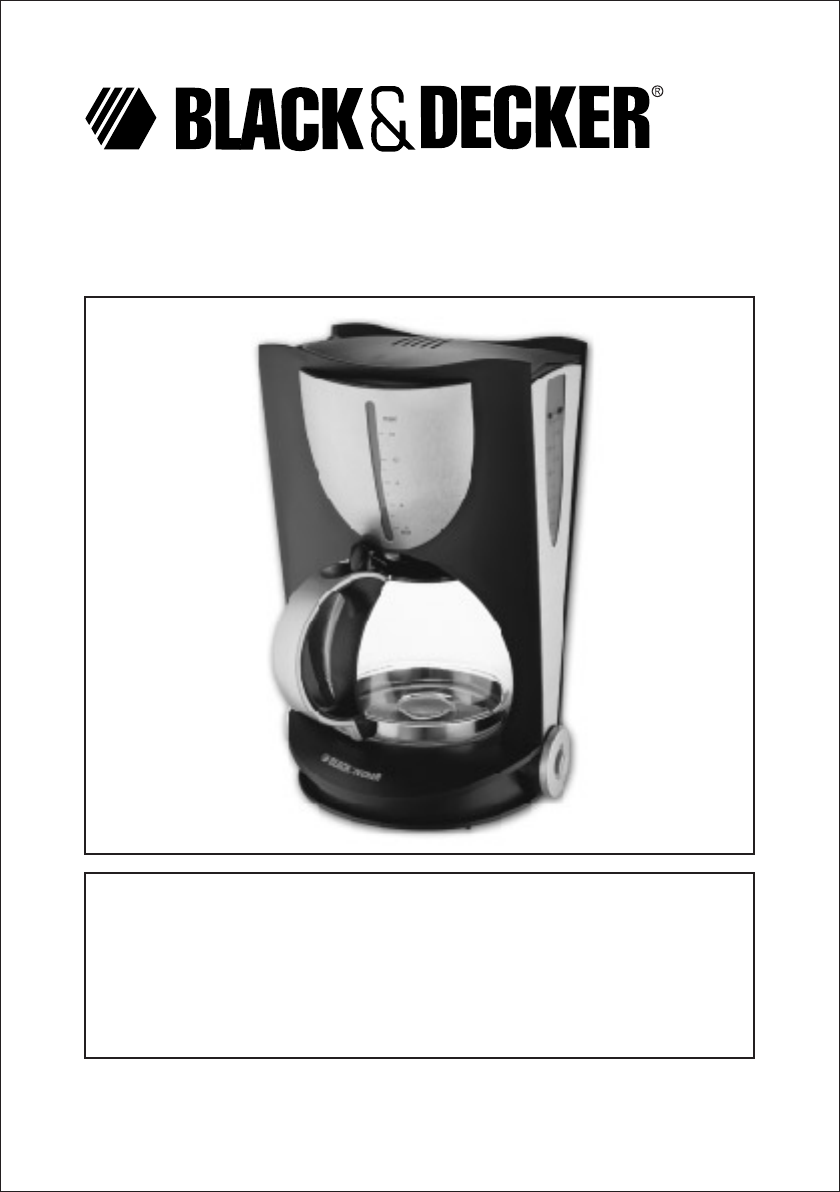 Black And Decker Coffee Maker User Manual : Black & Decker Coffeemaker DCM80 User Guide ManualsOnline.com