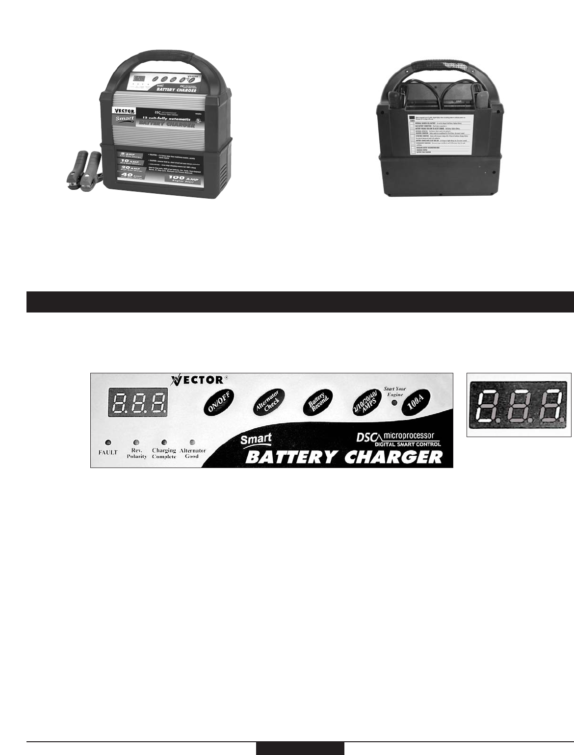 Vector battery charger user guide bing images for Vector canape user manual