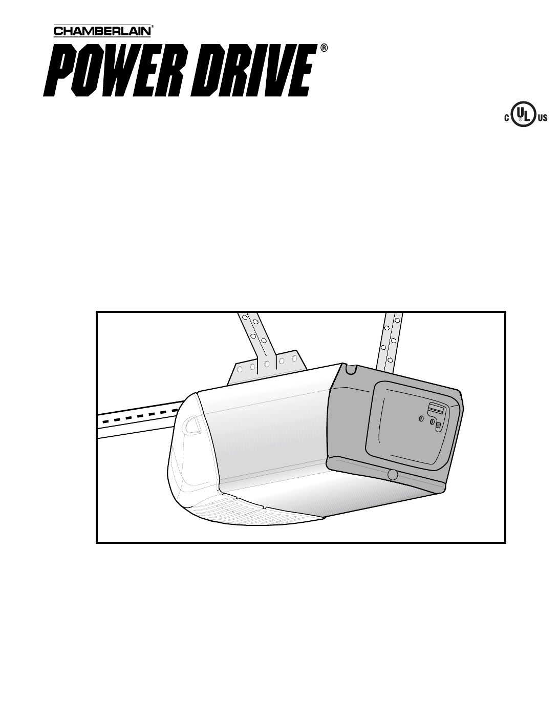 Chamberlain Garage Door Opener PD210 1 2 HP User Guide