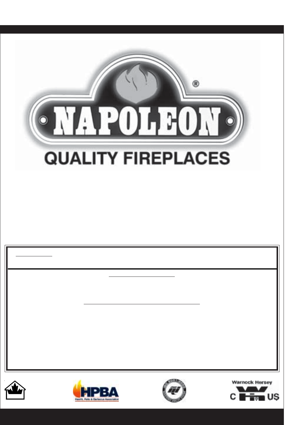 Napoleon Fireplaces Indoor Fireplace BGD36NTR User Guide ...