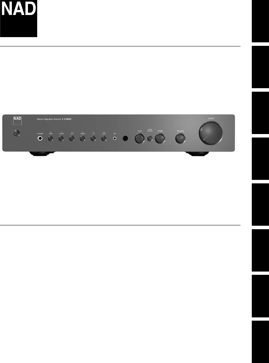 nad stereo receiver c315bee user guide manualsonline com rh audio manualsonline com User Manual User Training