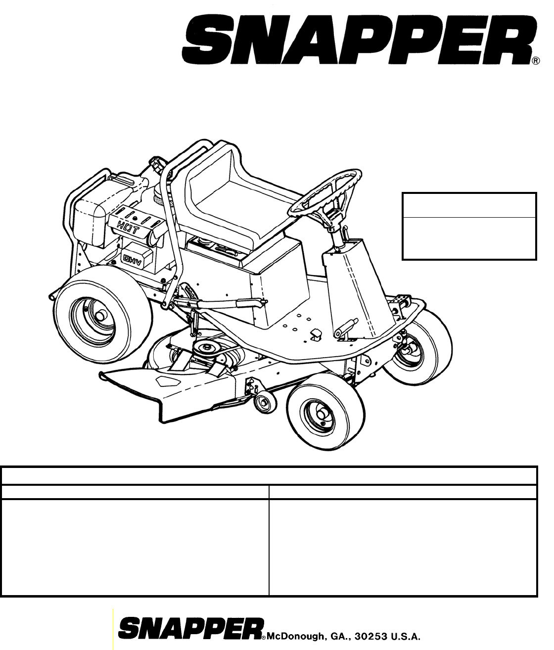 snapper lawn mower 381450hbve user guide manualsonline com parts manual for rear engine riding mower