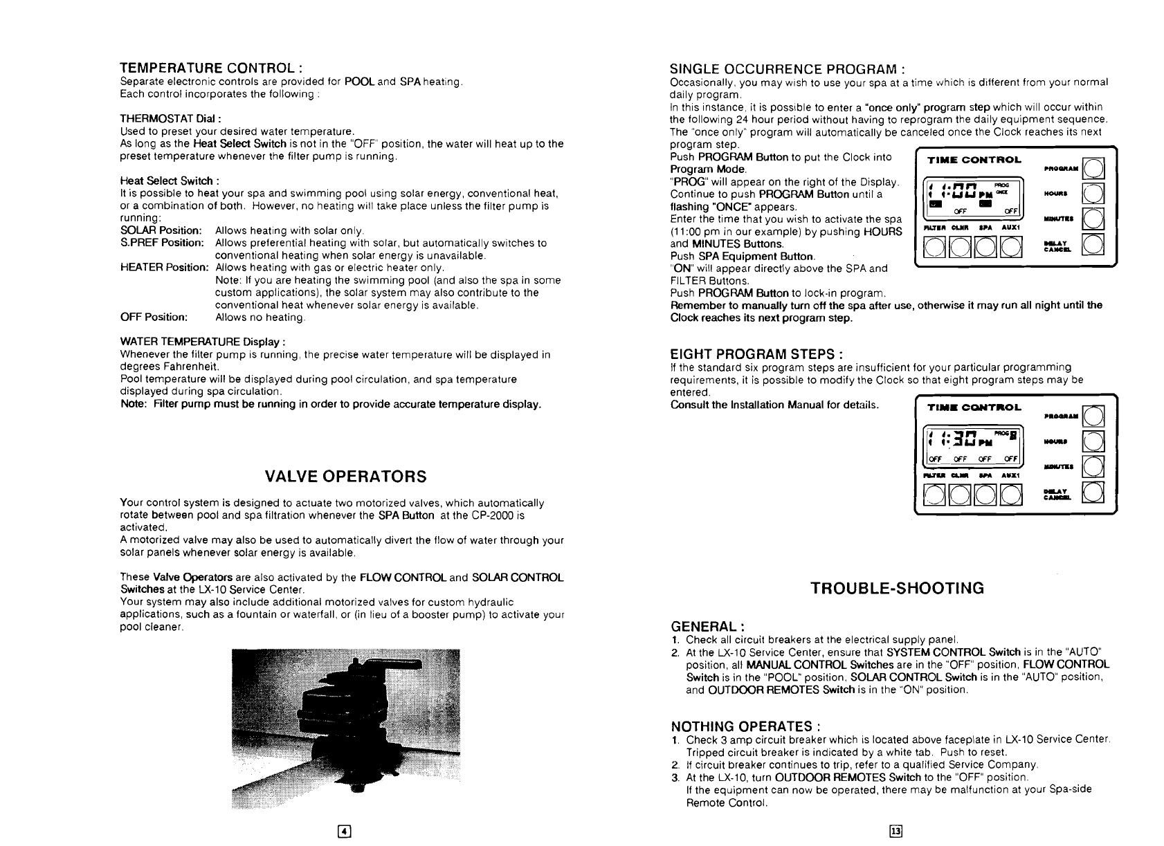 Page 3 Of Pentair Universal Remote Cp 2000 User Guide Circuit Temperature Control