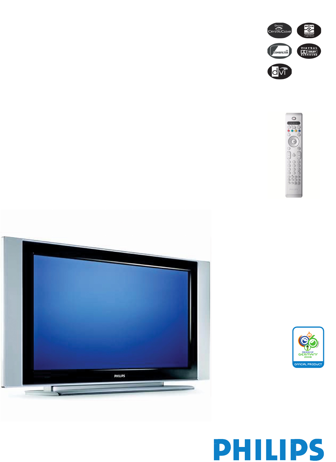 Philips 42PF5520D Flat Panel Television User Manual