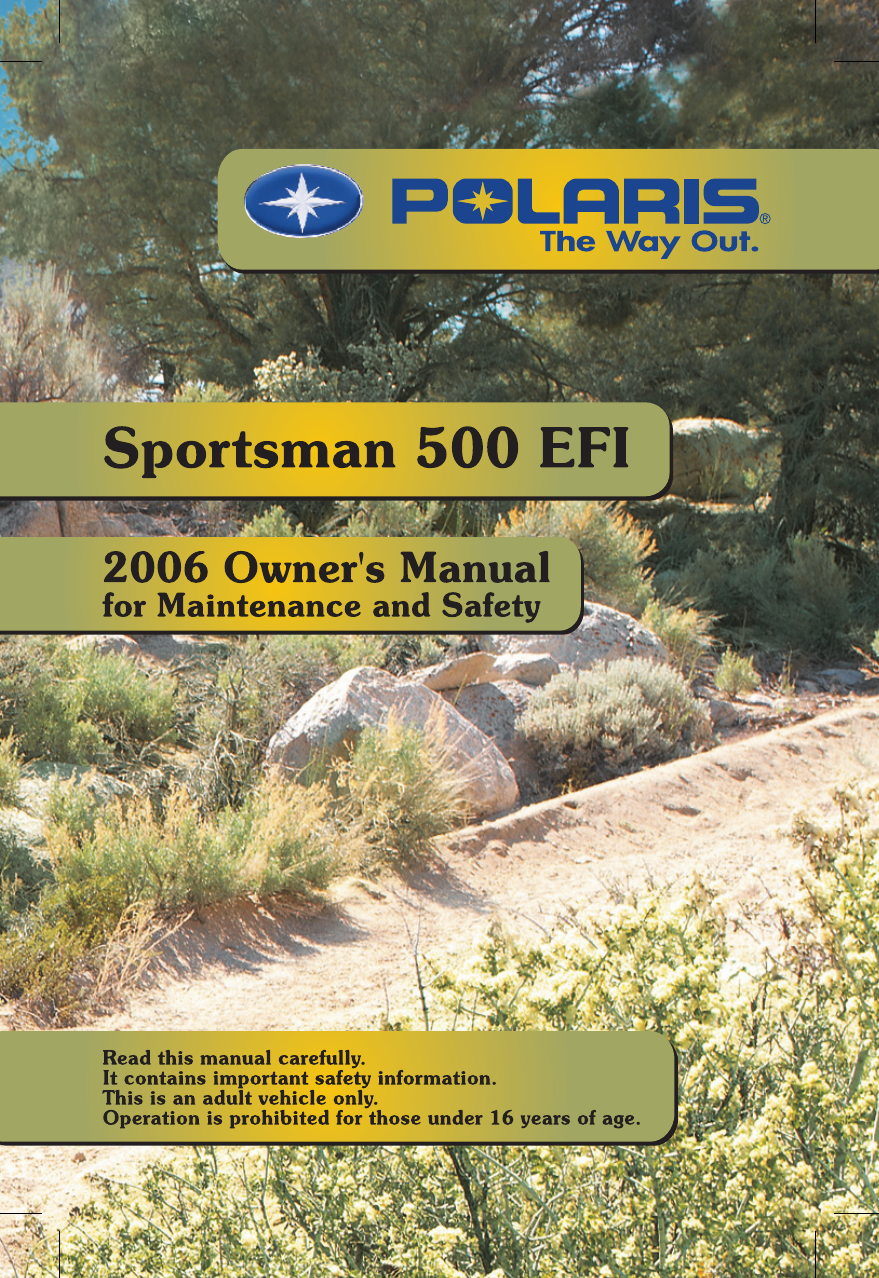 polaris offroad vehicle sportsman 500 efi user guide