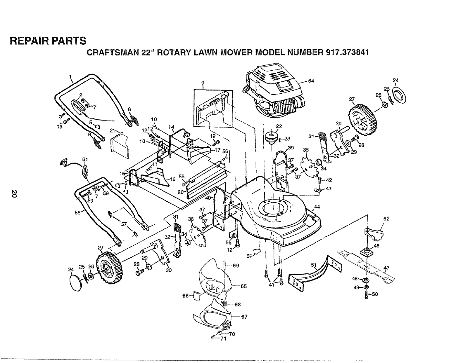 Craftsman Model 917 Parts : Page of craftsman lawn mower user guide
