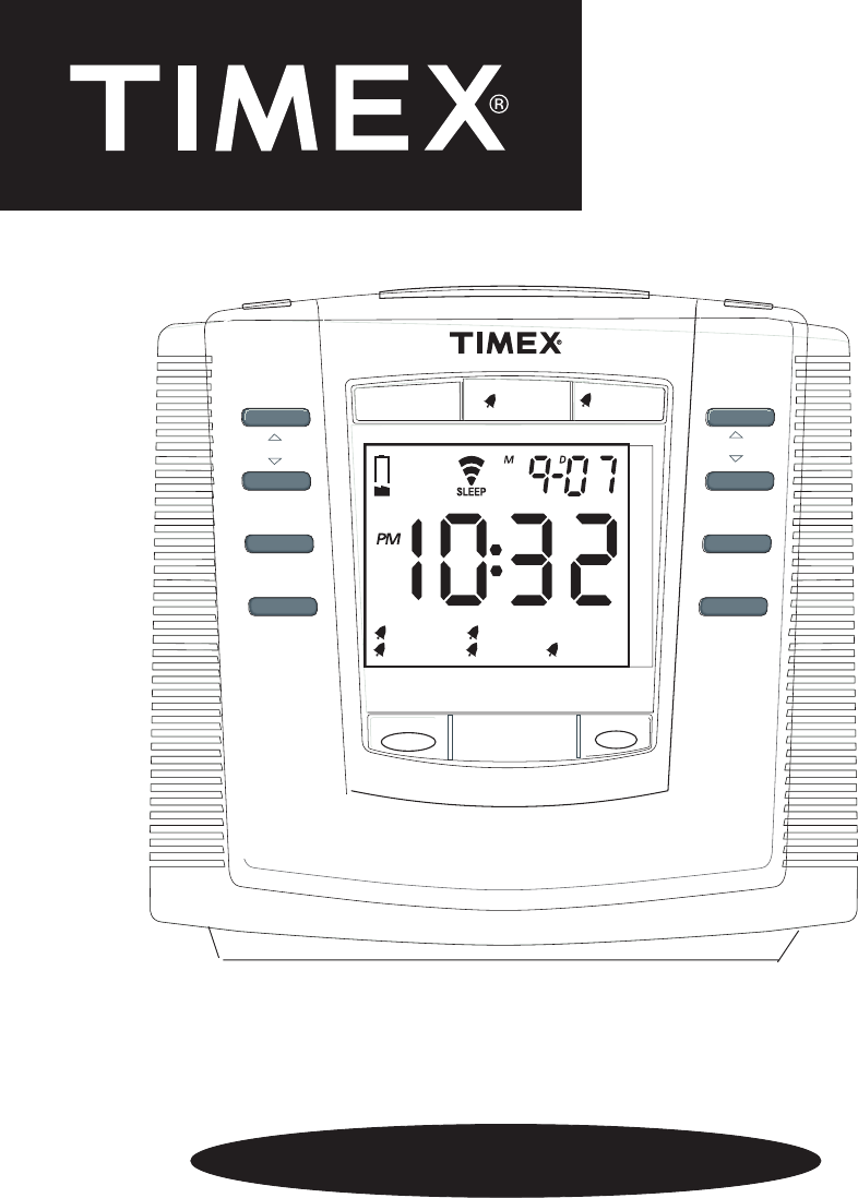 timex clock radio t301 user guide manualsonline com rh portablemedia manualsonline com Timex T611t Manual Alarm Clock Timex Nature Sounds Manual