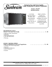 Free Sunbeam Microwave Oven User Manuals | ManualsOnline.com on microwave door, microwave with food, microwave venting, microwave toaster oven, microwave circuit, microwave dimensions in inches, microwave stops working, microwave parts diagram, microwave schematic diagram, microwave fan wiring, microwave engine, microwave brands, microwave control panel, microwave repair, microwave burning smell, microwave wattage chart, microwave computer, microwave transformer, microwave countdown, microwave numbers,
