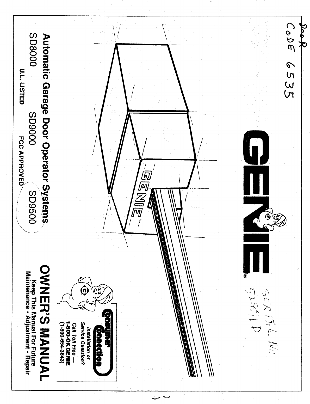 Genie Garage Door Opener Sd8000 User Guide