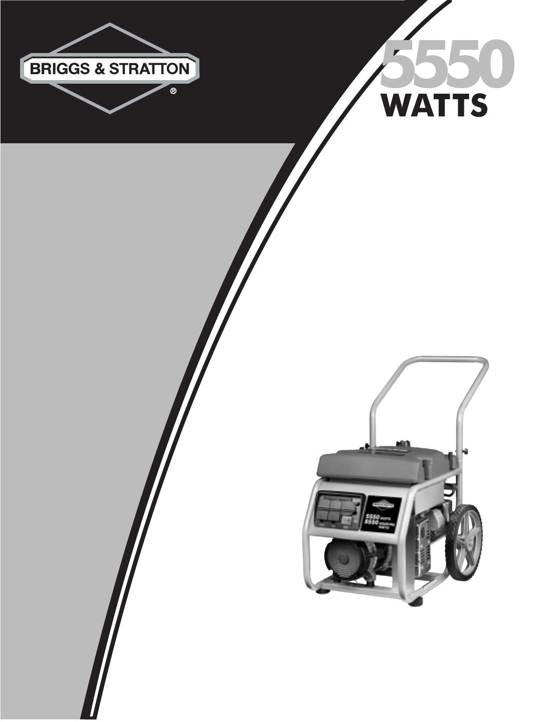 briggs stratton portable generator 30324 user guide rh kitchen manualsonline com briggs and stratton 5500 watt generator manual briggs and stratton 5500 watt generator owner's manual