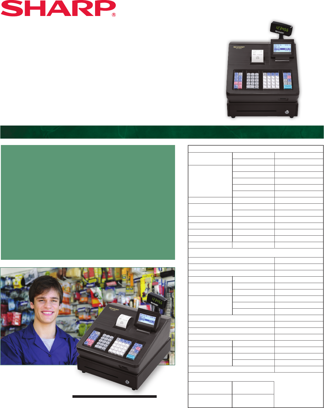 The XE-A207 cash register with its unique menu-based control system is the  ideal