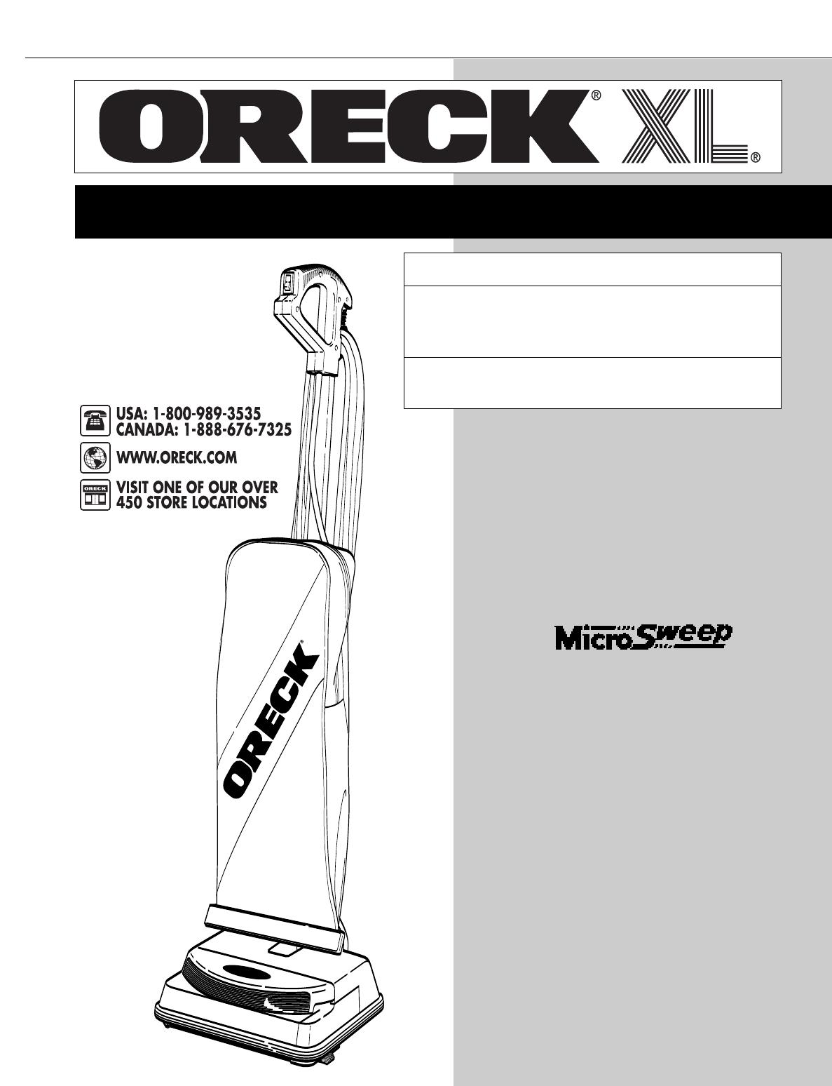 oreck vacuum cleaner u3700hh user guide manualsonline com rh homeappliance manualsonline com oreck xl repair manual oreck xl manual air purifier