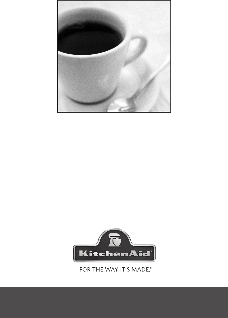 Kitchenaid Coffee Maker 12 Cup Manual : KitchenAid Coffeemaker KCM1402 User Guide ManualsOnline.com