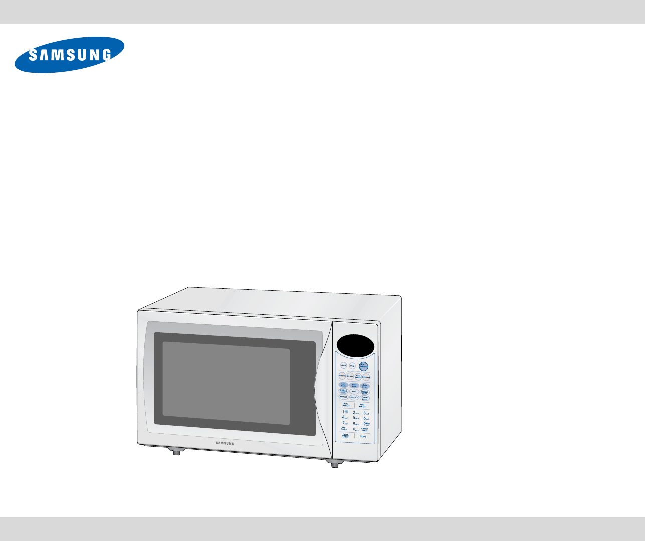 Samsung Microwave Oven MC1015WB/BB User Guide