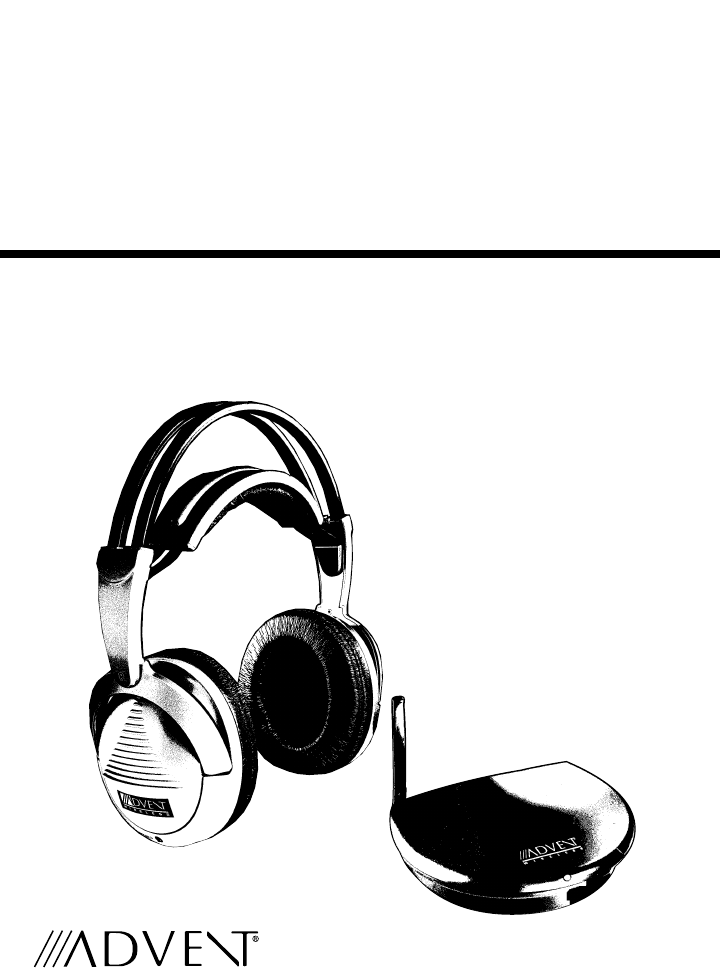 recoton advent headphones aw770 user guide manualsonline com rh audio manualsonline com Advent Wireless Headphones Manual Advent Wireless Headphones for TV