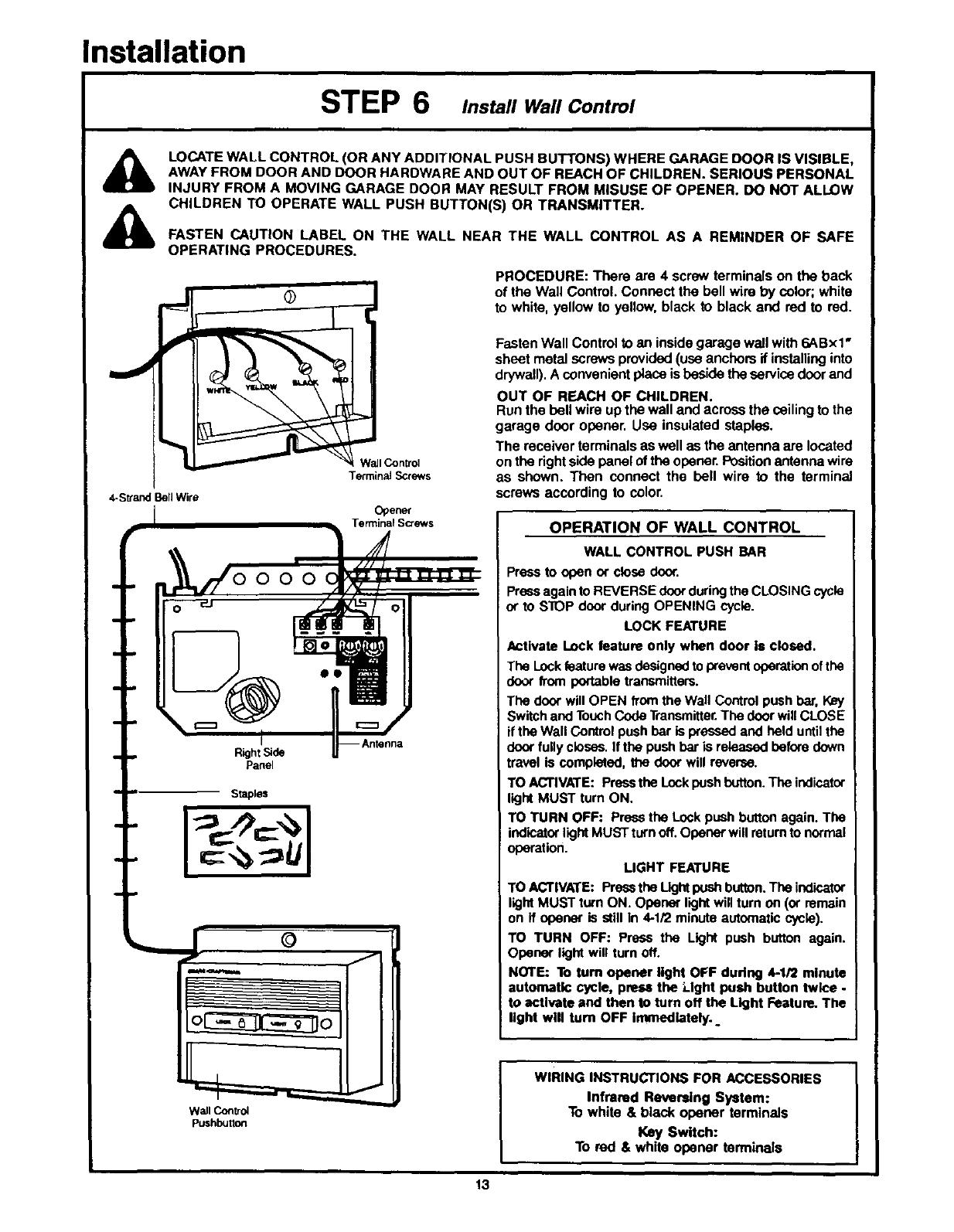 Page 13 Of Craftsman Garage Door Opener, Craftsman Garage Door Opener Wiring Schematic