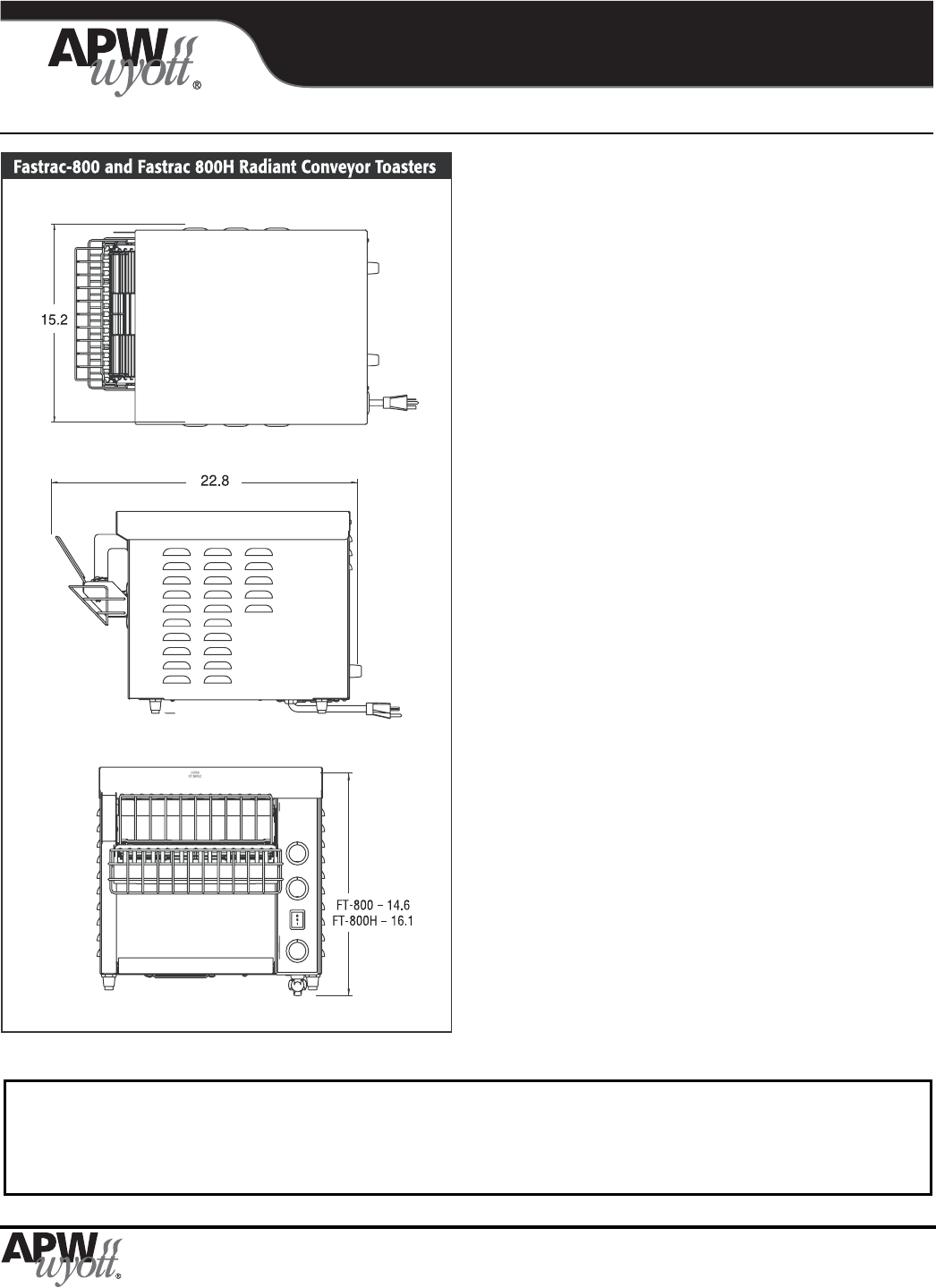 Page 2 Of Apw Wyott Oven 800 User Guide Manualsonlinecom Wiring Diagrams Manual