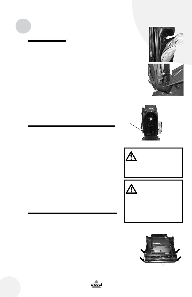 Page 8 Of Bissell Vacuum Cleaner 46e5 User Guide Manualsonlinecom Wiring Diagram Replace Dust Bag