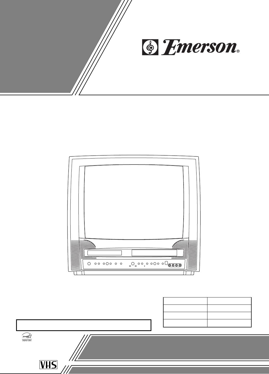 Emerson Tv Vcr Combo Ewc19t4 User Guide