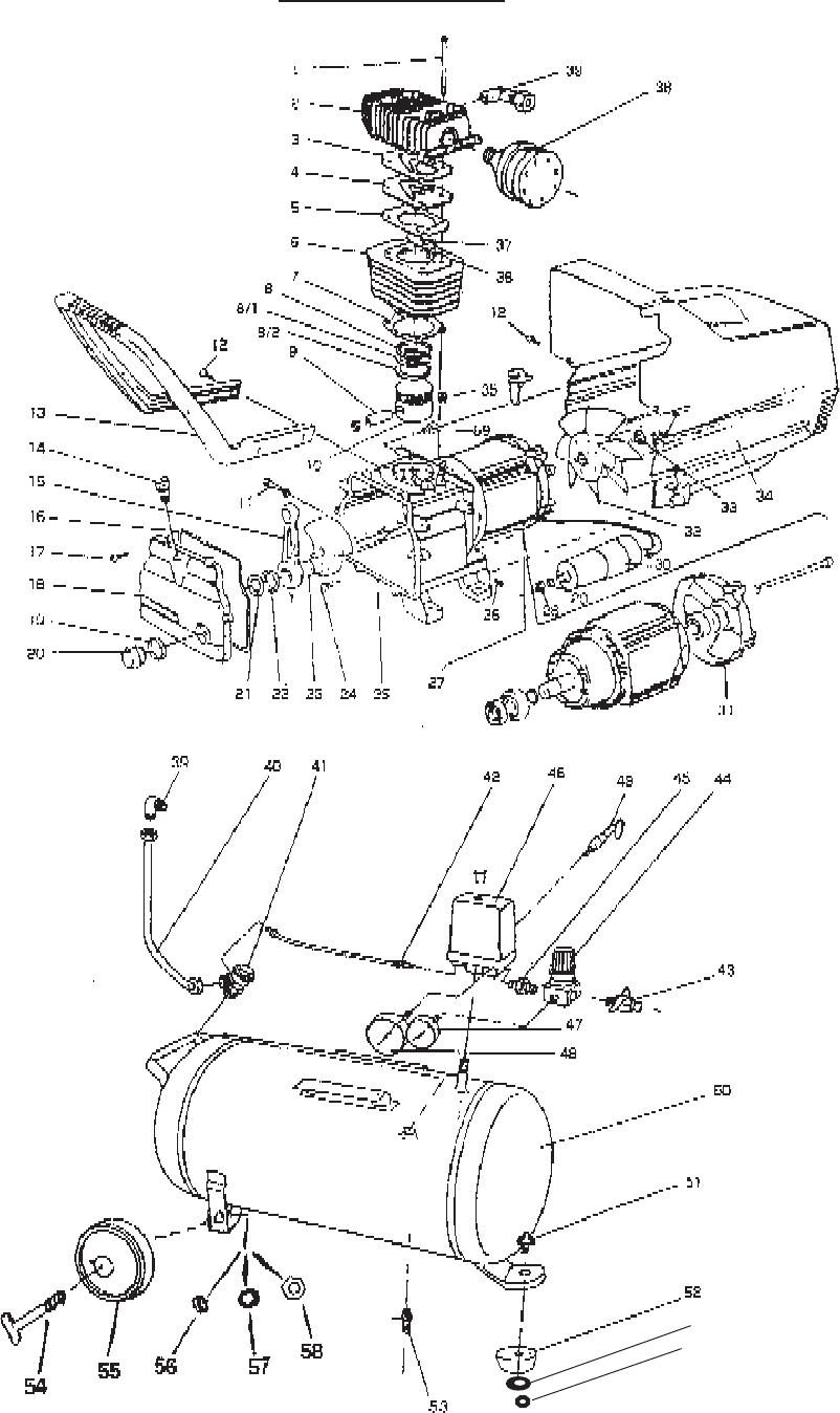 page 8 of central pneumatic air compressor air compressor 40400 user rh powertool manualsonline com Central Pneumatic Model 95386 Parts Central Pneumatic 95386 Parts Diagram