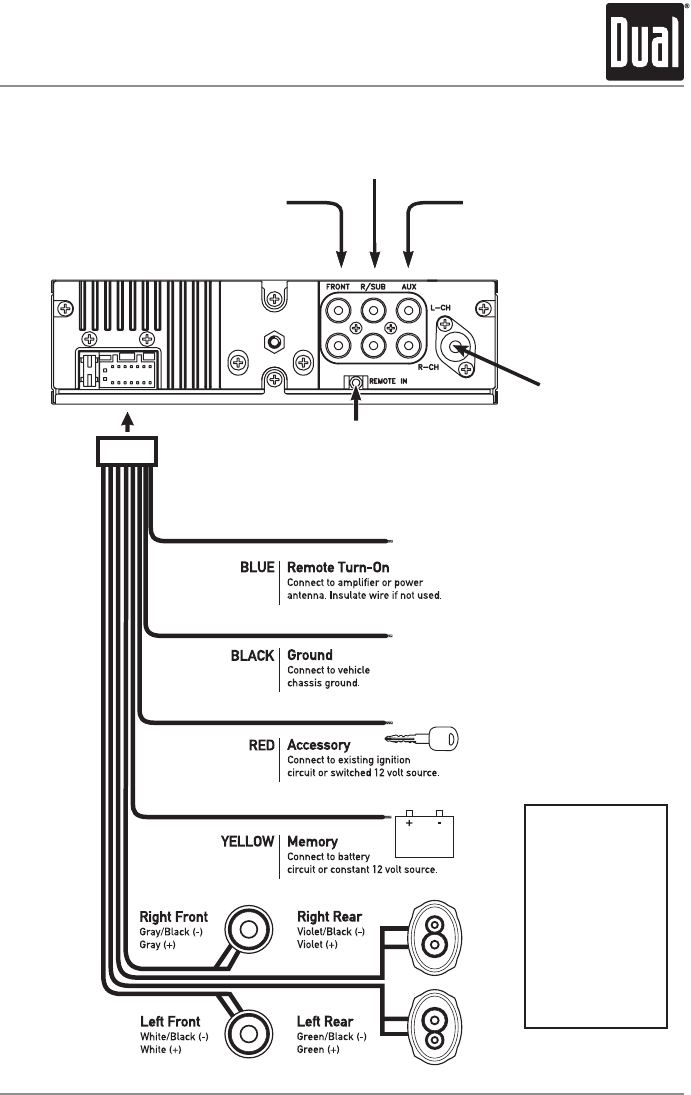 Dual Xdvd236bt Wiring Diagram on car audio installation diagram