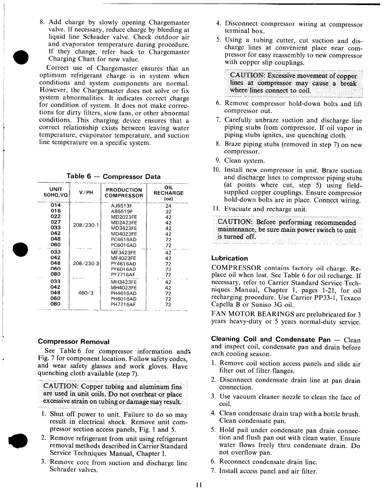 page 11 of carrier heat pump 50hq user guide manualsonline com rh homeappliance manualsonline com Carrier ManualsOnline Carrier 58MXA