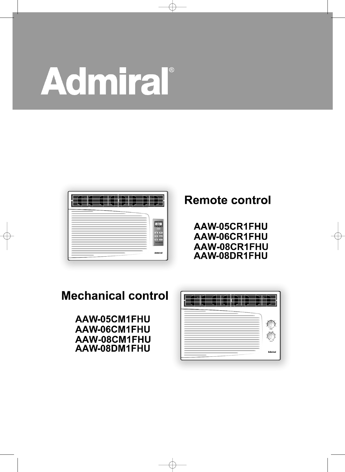 admiral air conditioner aaw 08cr1fhu user guide manualsonline com rh homeappliance manualsonline com Admiral Air Conditioner Controls Admiral Air Conditioner Air Wall