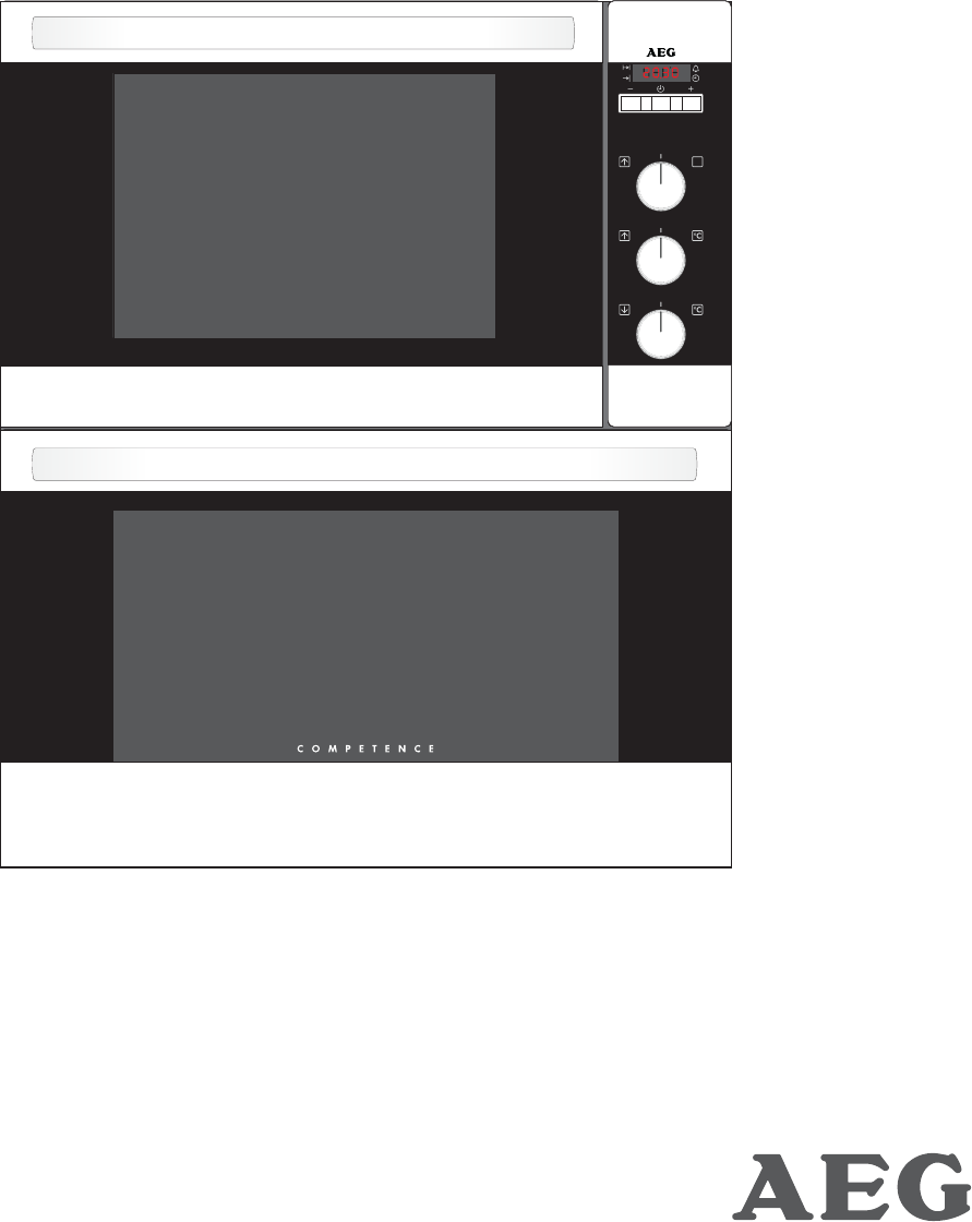 aeg double oven u3100 4 user guide manualsonline com rh kitchen manualsonline com AEG Appliances aeg electrolux microwave oven