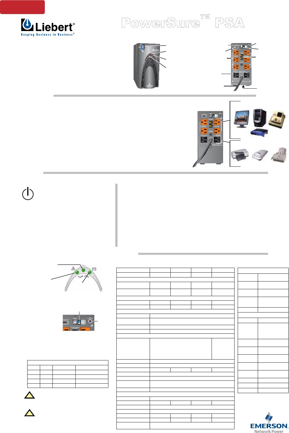 liebert power supply psa500mt 120 user guide manualsonline com rh office manualsonline com PSA 3 Precinct PSA 3 Brooklyn