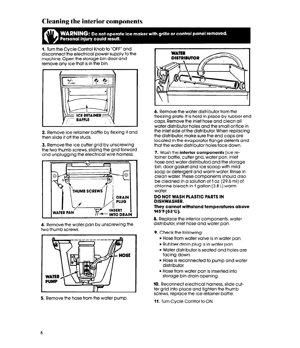 Page 8 Of Whirlpool Ice Maker Ec5100 User Guide Manualsonlinecom Wiring Harness Diagram Manual