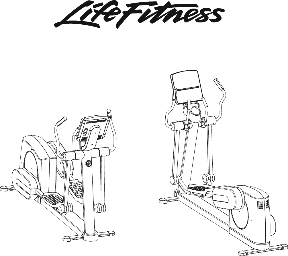 life fitness club series elliptical cross trainer manual