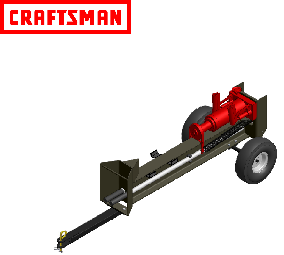 craftsman log splitter 486 2454 user guide manualsonline com rh lawnandgarden manualsonline com Best Log Splitter Electric Log Splitter