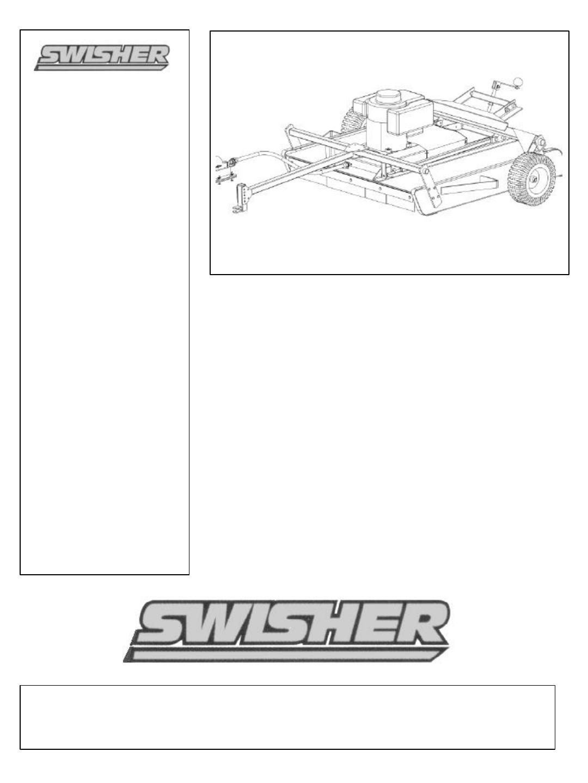 swisher lawn mower rt10544  rt80044 user guide swisher 44 inch trail mower manual swisher trail mower manual