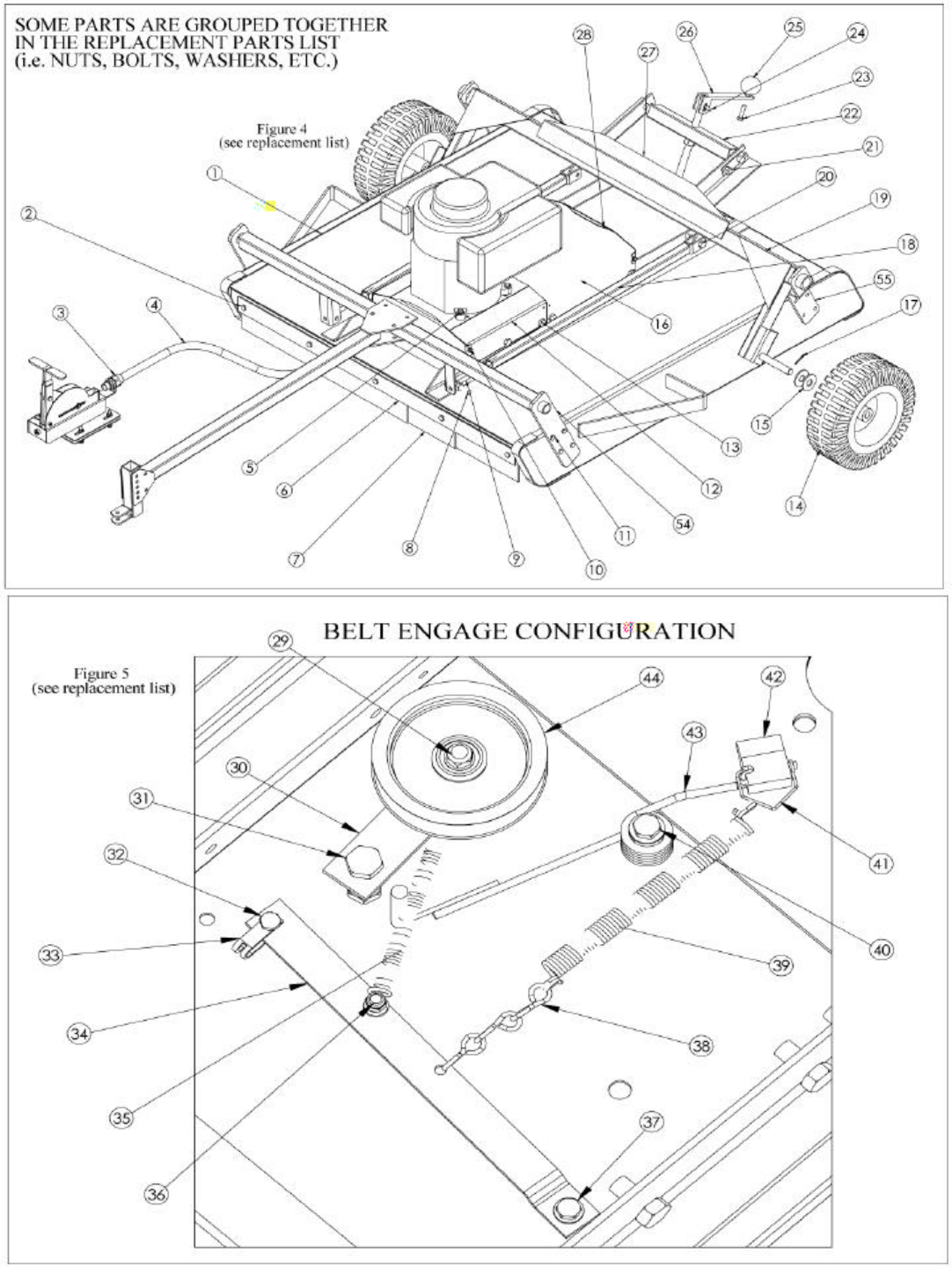 finish mower belt diagram