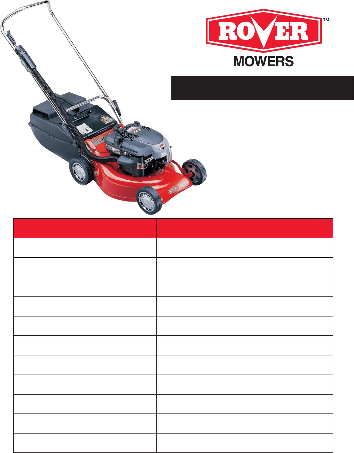 Univex 35692 Lawn Mower User Manual