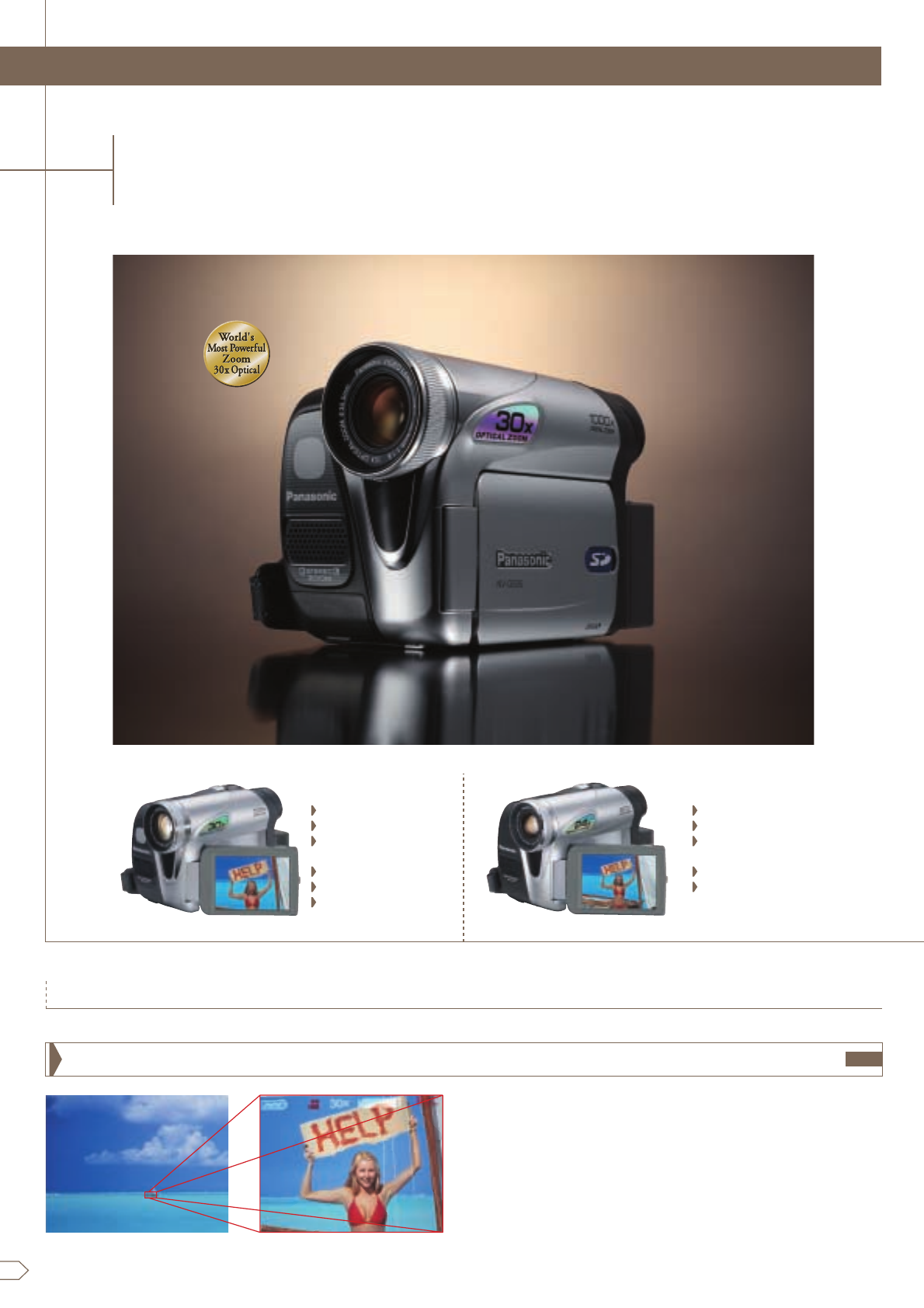 page 8 of panasonic camcorder nv gs75 user guide manualsonline com rh camera manualsonline com Panasonic Professional Camcorders Old Panasonic Camcorder
