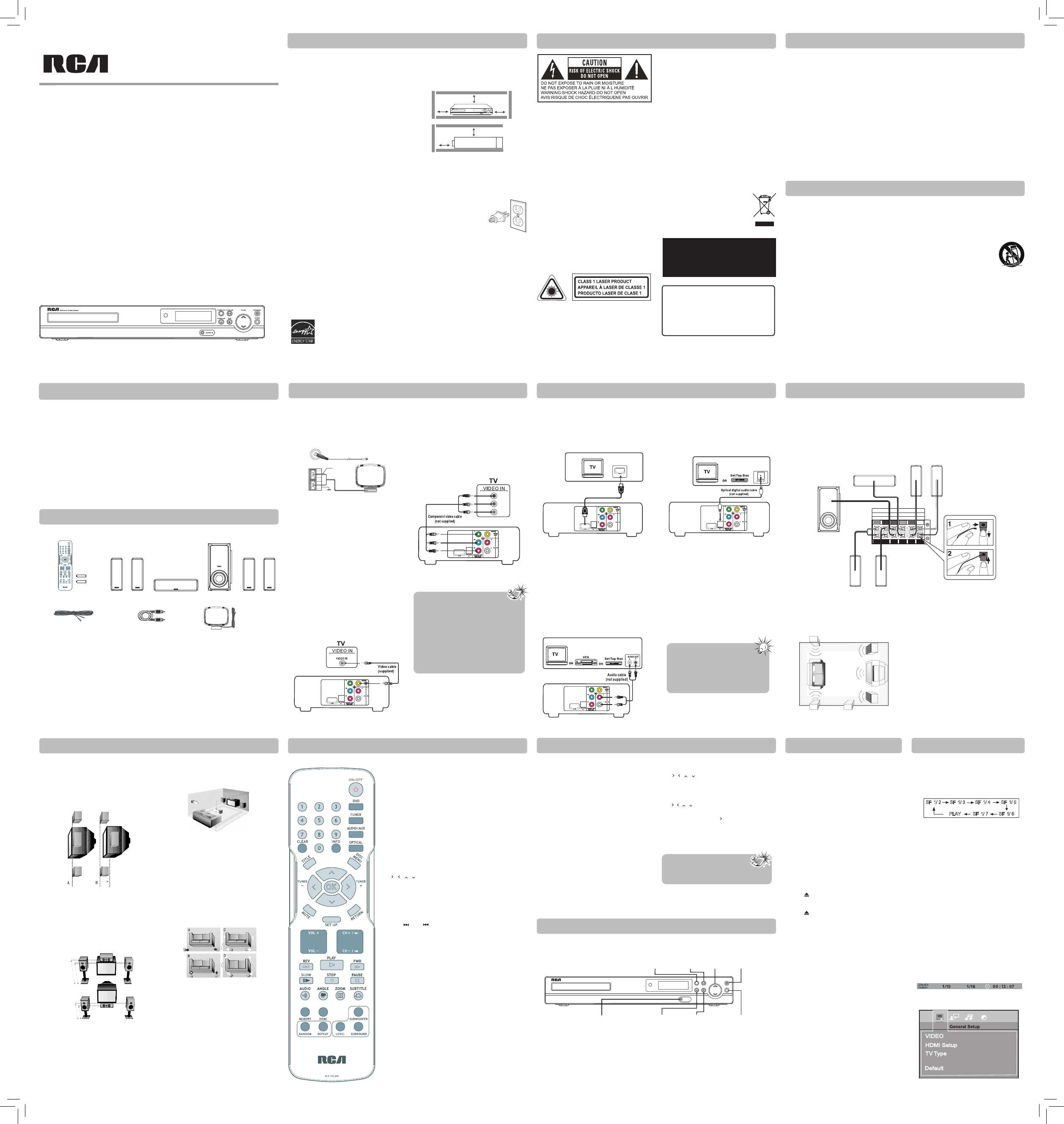 rca home theater system user manual. Black Bedroom Furniture Sets. Home Design Ideas