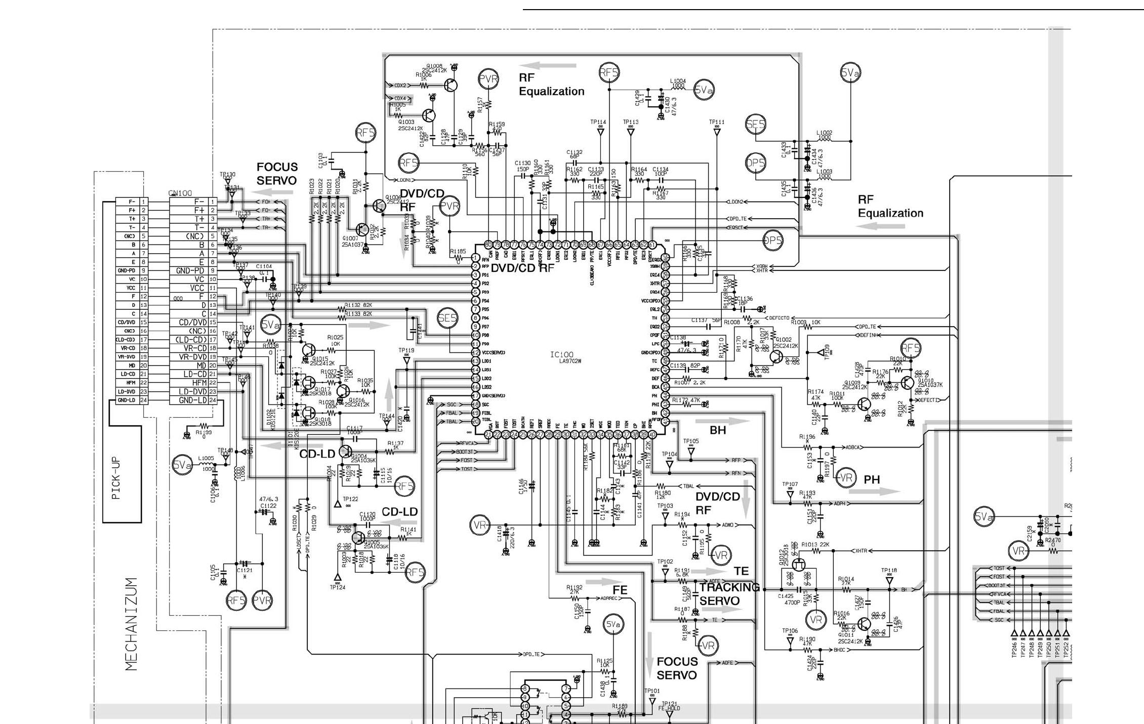 page 10 of sanyo dvd player dvd 9501 user guide manualsonline com 11 10 dvd p w board operation schematic