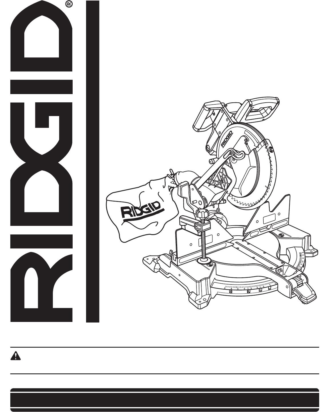 ridgid saw r4121 user guide manualsonline com rh powertool manualsonline com