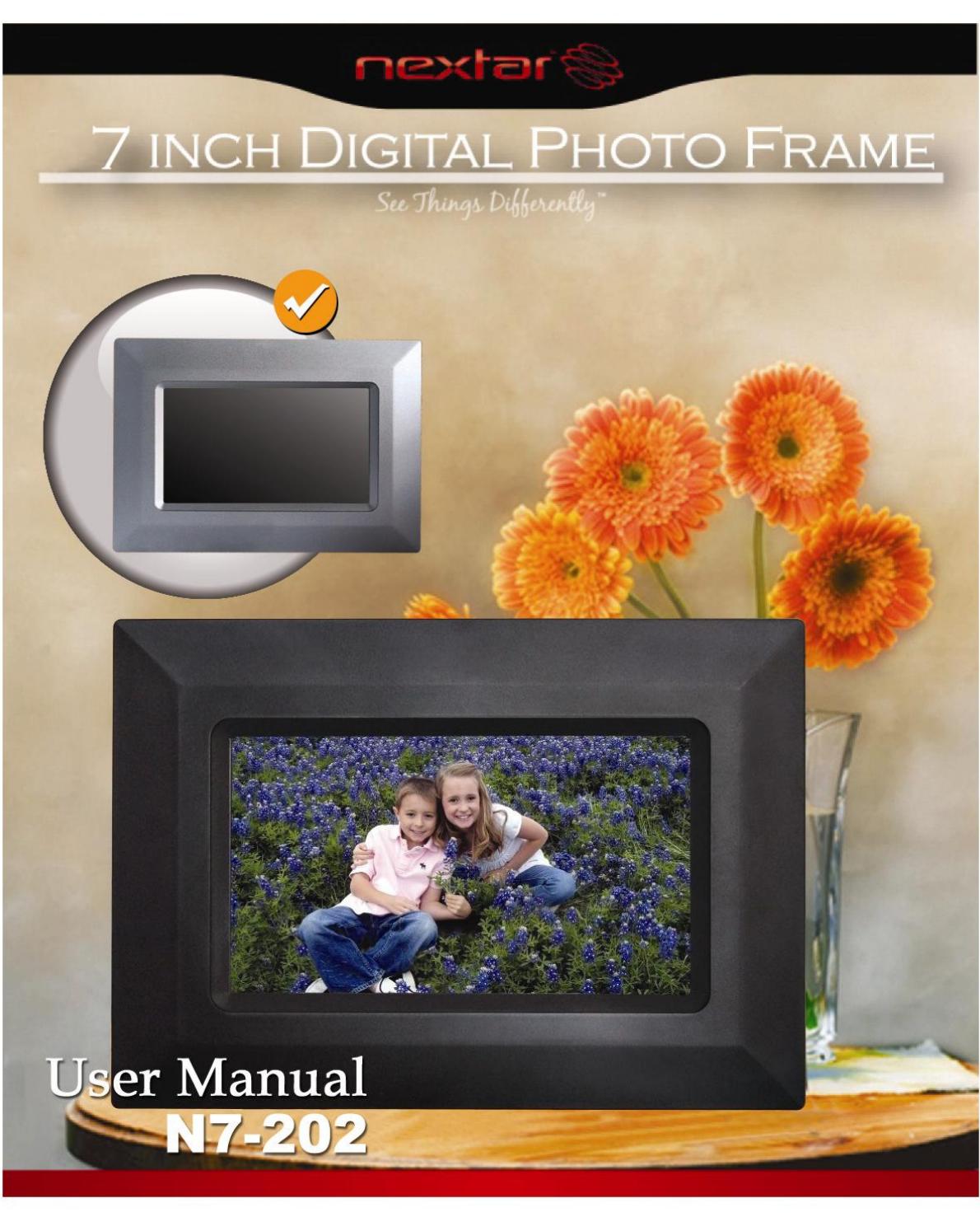 Nextar Digital Photo Frame N7-202 User Guide | ManualsOnline.com