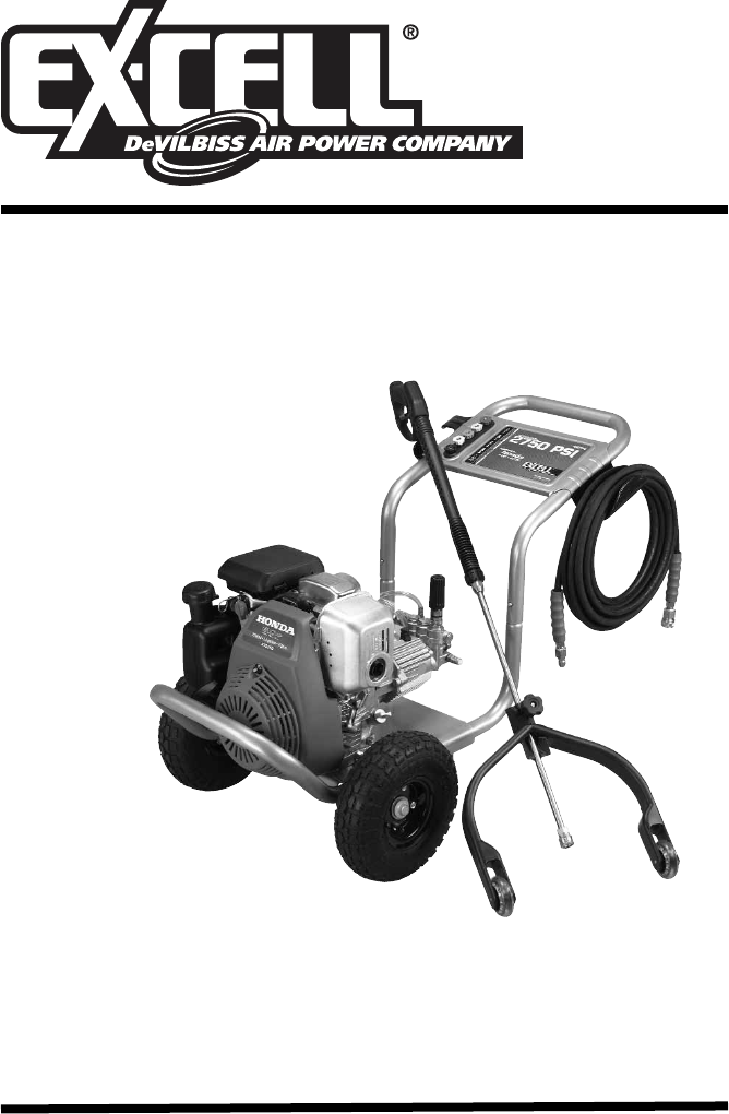 excell precision pressure washer xr2750 user guide manualsonline com rh lawnandgarden manualsonline com Honda Owners Manuals Specs Honda Owners Manuals PDF