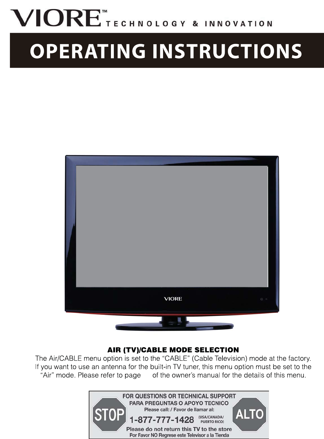 Viore Led24vf60 Lcd Television Parts Manual Guide