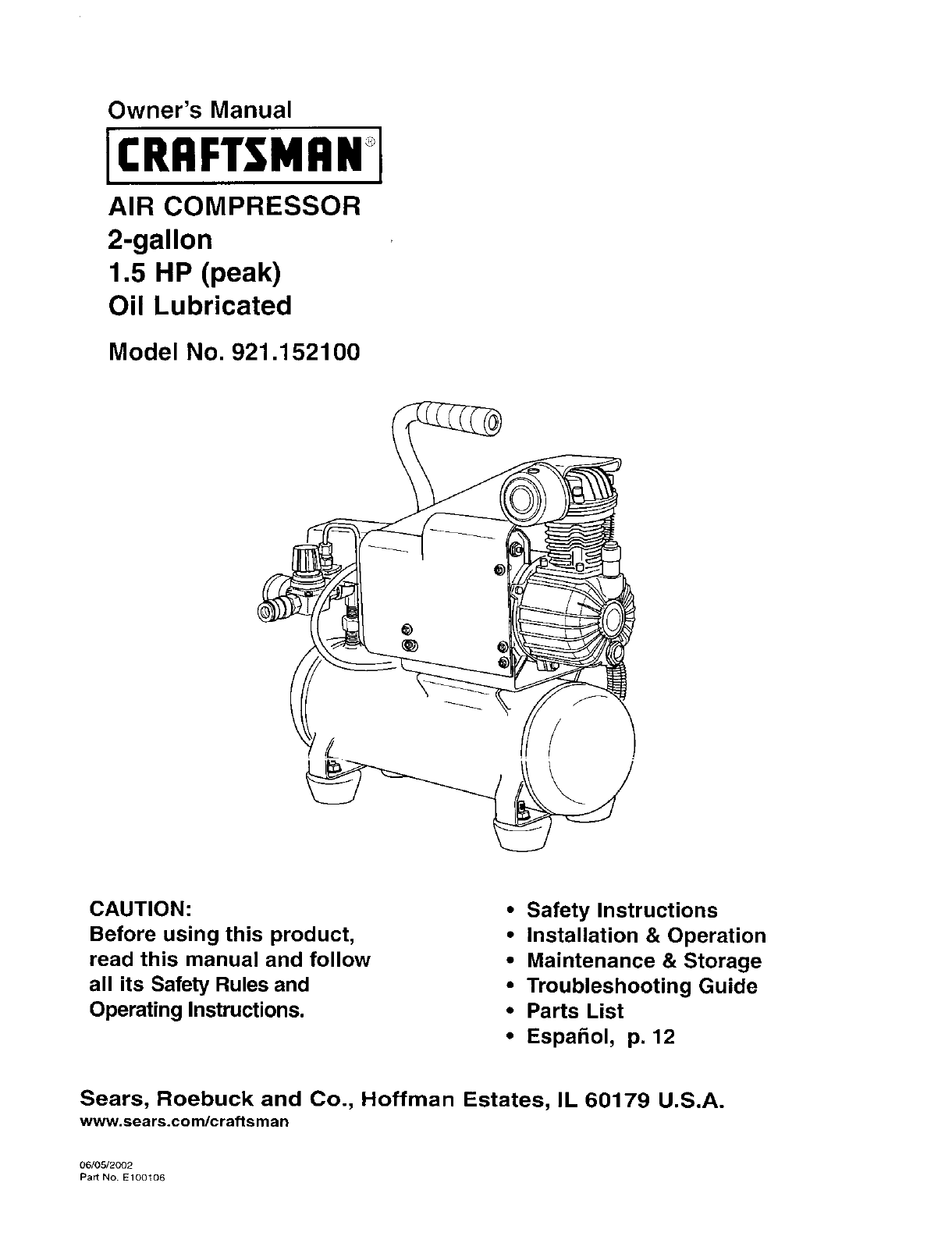 27 Craftsman Air Compressor Parts Diagram Manual Guide