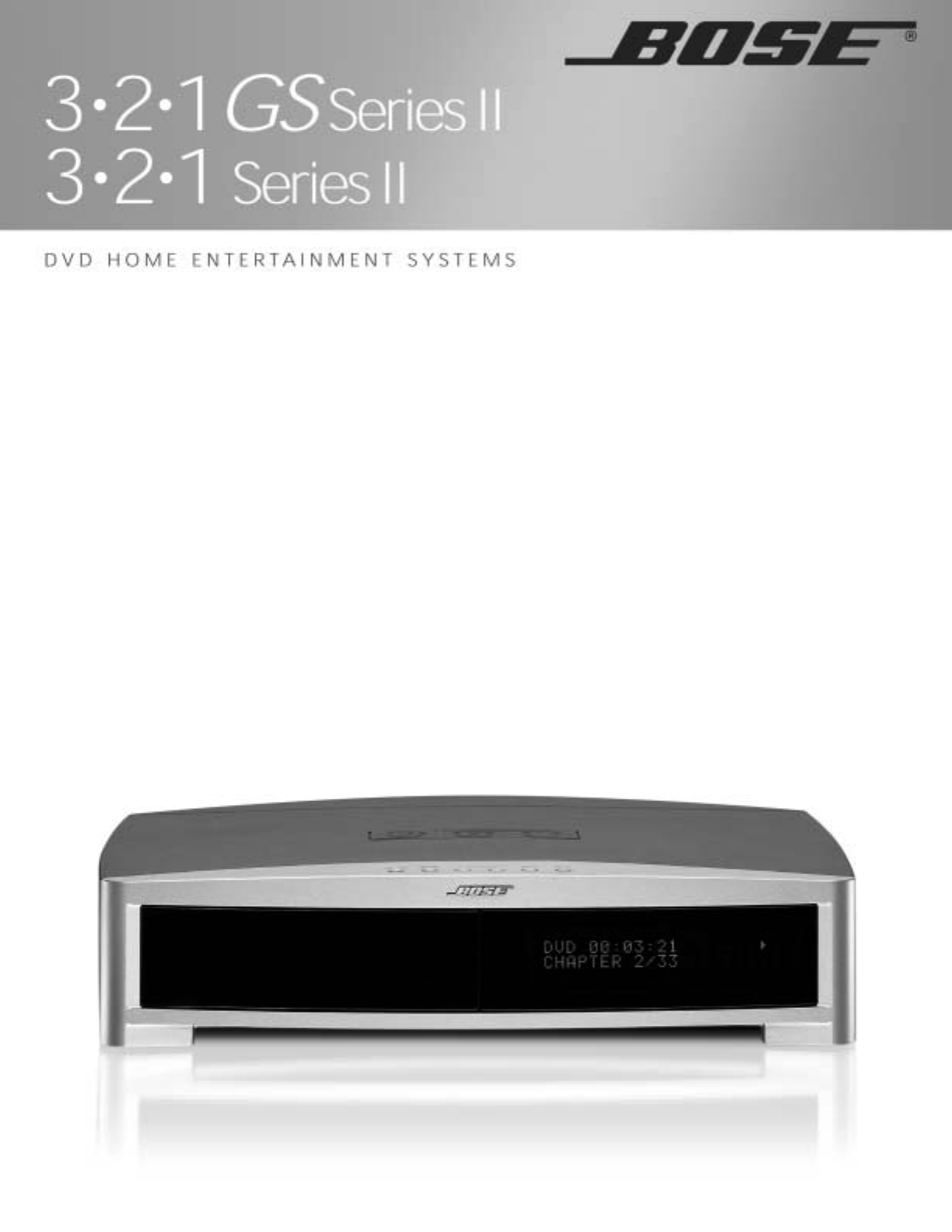 bose dvd player 3 2 1 gs series ii 3 2 1 series ii user guide rh tv manualsonline com Bose Home Theater System Bose DVD Home Entertainment Systems