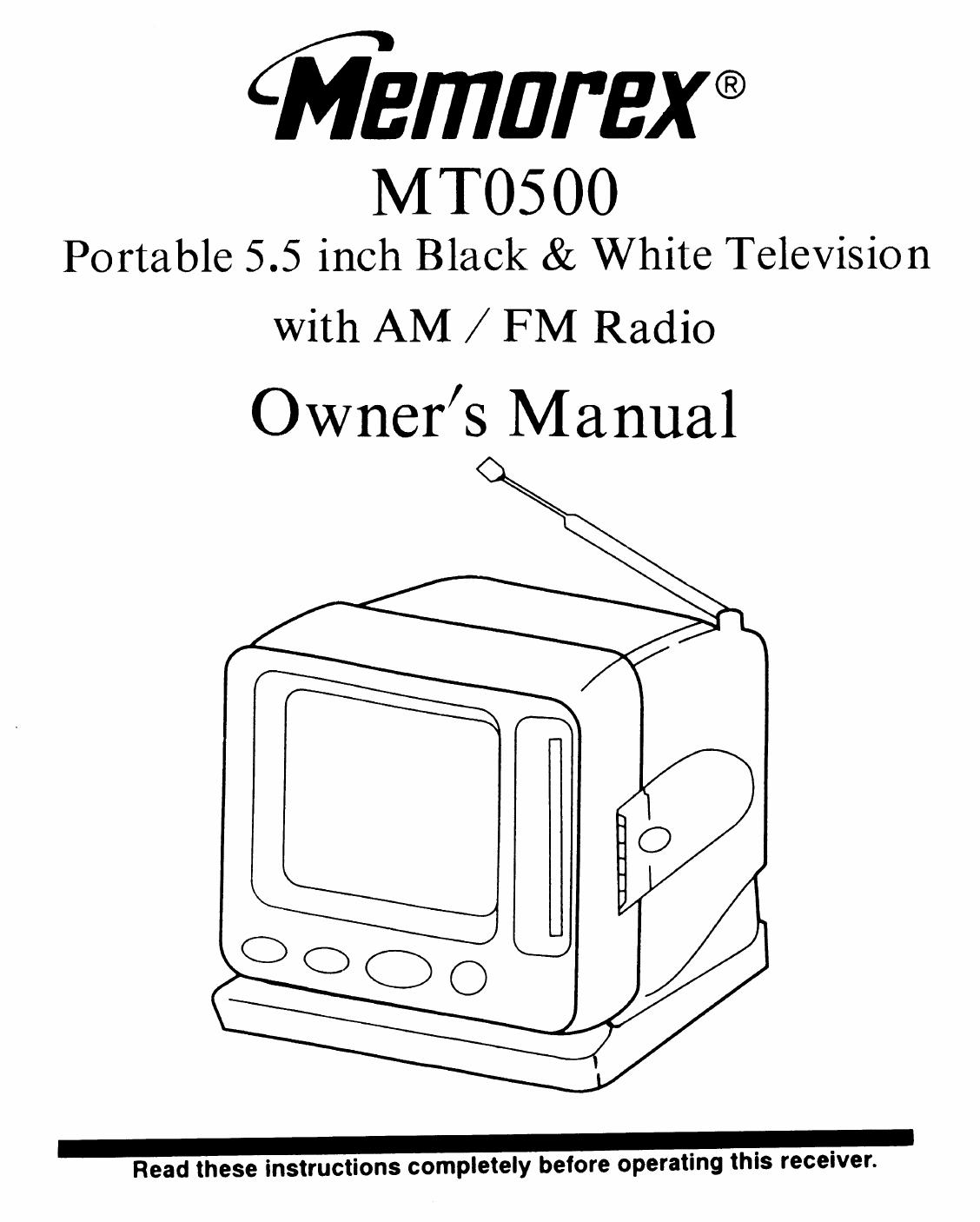 memorex handheld tv mt0500 user guide