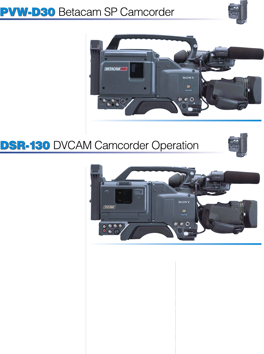 page 7 of sony camcorder dxc d30 user guide manualsonline com rh camera manualsonline com Dxc Logo Dxc Technology Logo