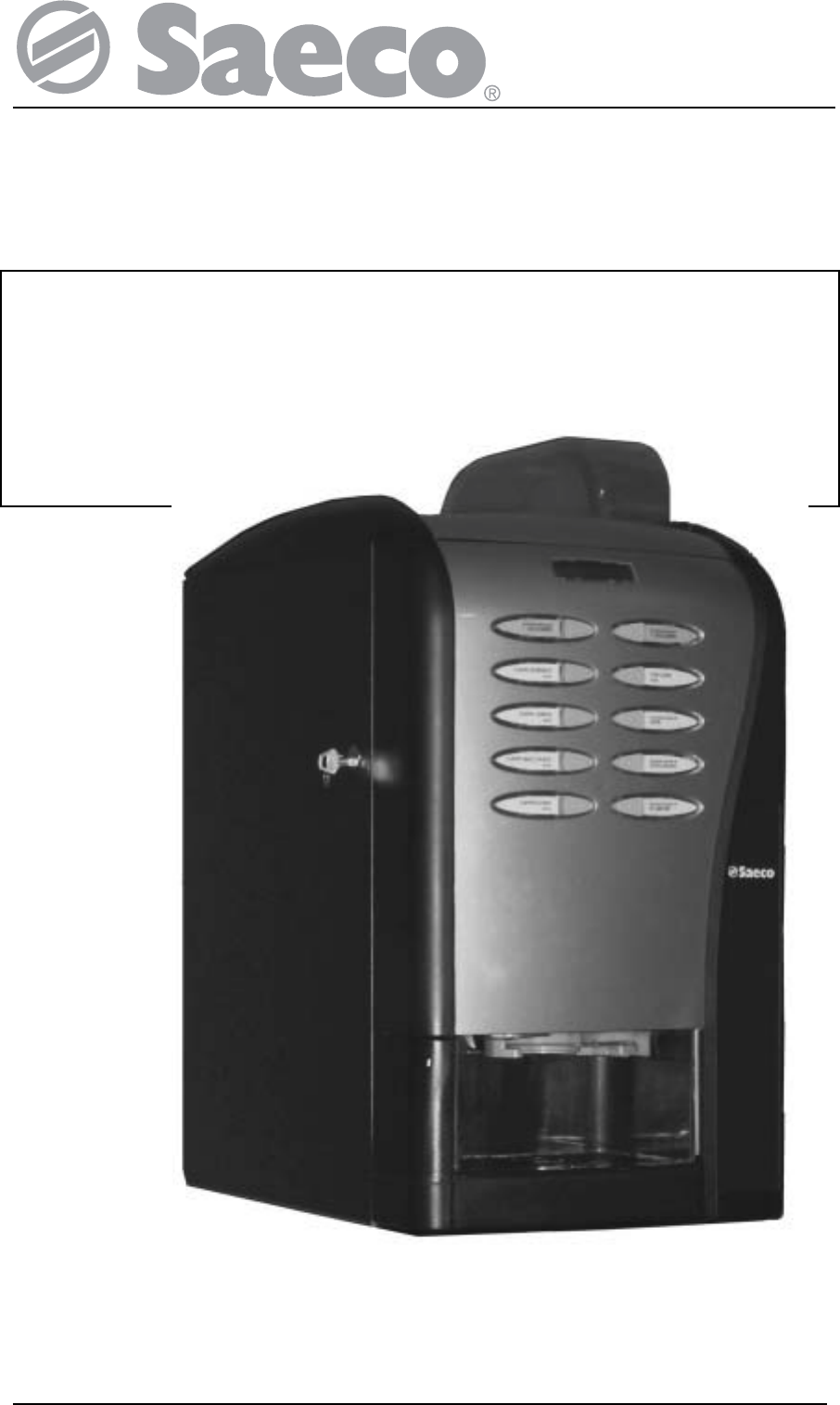 Saeco Coffee Maker Owner S Manual : Saeco Coffee Makers Coffee Grinder SG200E User Guide ManualsOnline.com