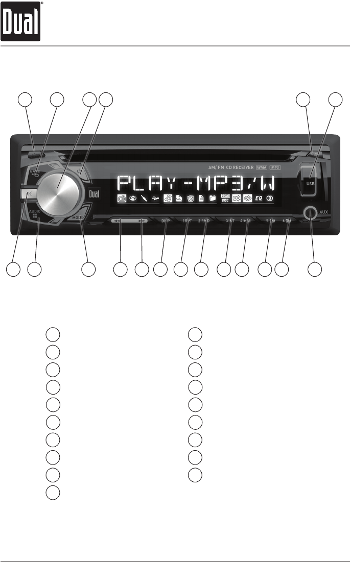Page 4 Of Dual Car Stereo System Xdm260 User Guide